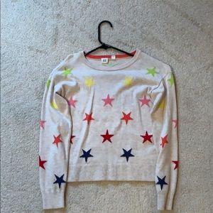Gap girls size 12 star sweater